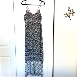 Bardot Black White Abstract Strappy Maxi Dress